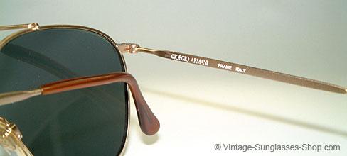 13a7170f43 Giorgio Armani Ga 134 Metal Men's Aviator Sunglasses | United ...