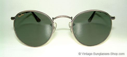 ray ban vintage glasses  ray ban small round metal 47 b&l usa details