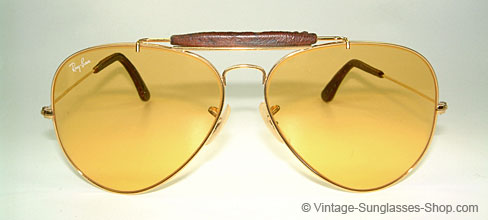 Ray Ban Outdoors II Leather Ambermatic Details