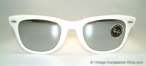 white ray ban clubmaster  Vintage Sunglasses