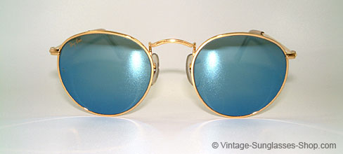 ray ban vintage glasses  ray ban small round metal 47