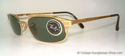 5a3b5a7c8b1 Vintage Ray Ban Signet Gold Frame Sunglasses