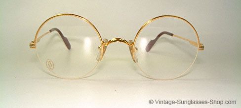 cartier mayfair small round 80s glasses
