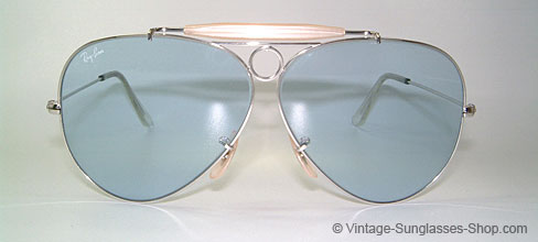 Ray Ban White And Gold