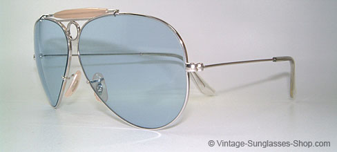 bee7b42a656 Sunglasses Ray Ban Shooter - White Gold - Blue