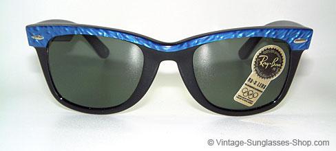 gold ray ban wayfarer  Vintage Sunglasses