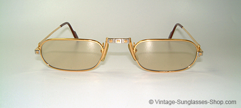 c3b5a44eb103 Cartier Half Rim Sunglasses Tan Wood Frame