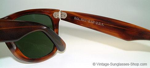 91e193a8e2 Vintage B L U E Ray Ban Wayfarer Sunglasses Purple Tortoise ...