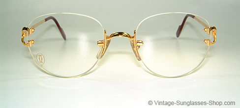 748fd4aec898 Cartier Rimless Black Gold Square Sunglasses