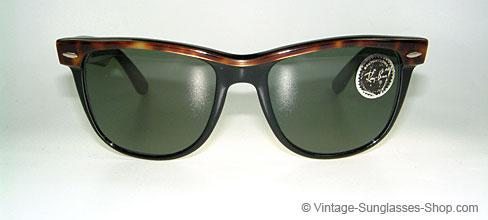 cbfa635855 Vintage B L U E Ray Ban Wayfarer Sunglasses Purple Tortoise ...