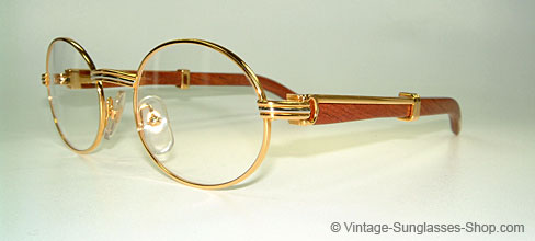 Cartier Glasses Wood Frame : Vintage Sunglasses Product details Glasses Cartier ...