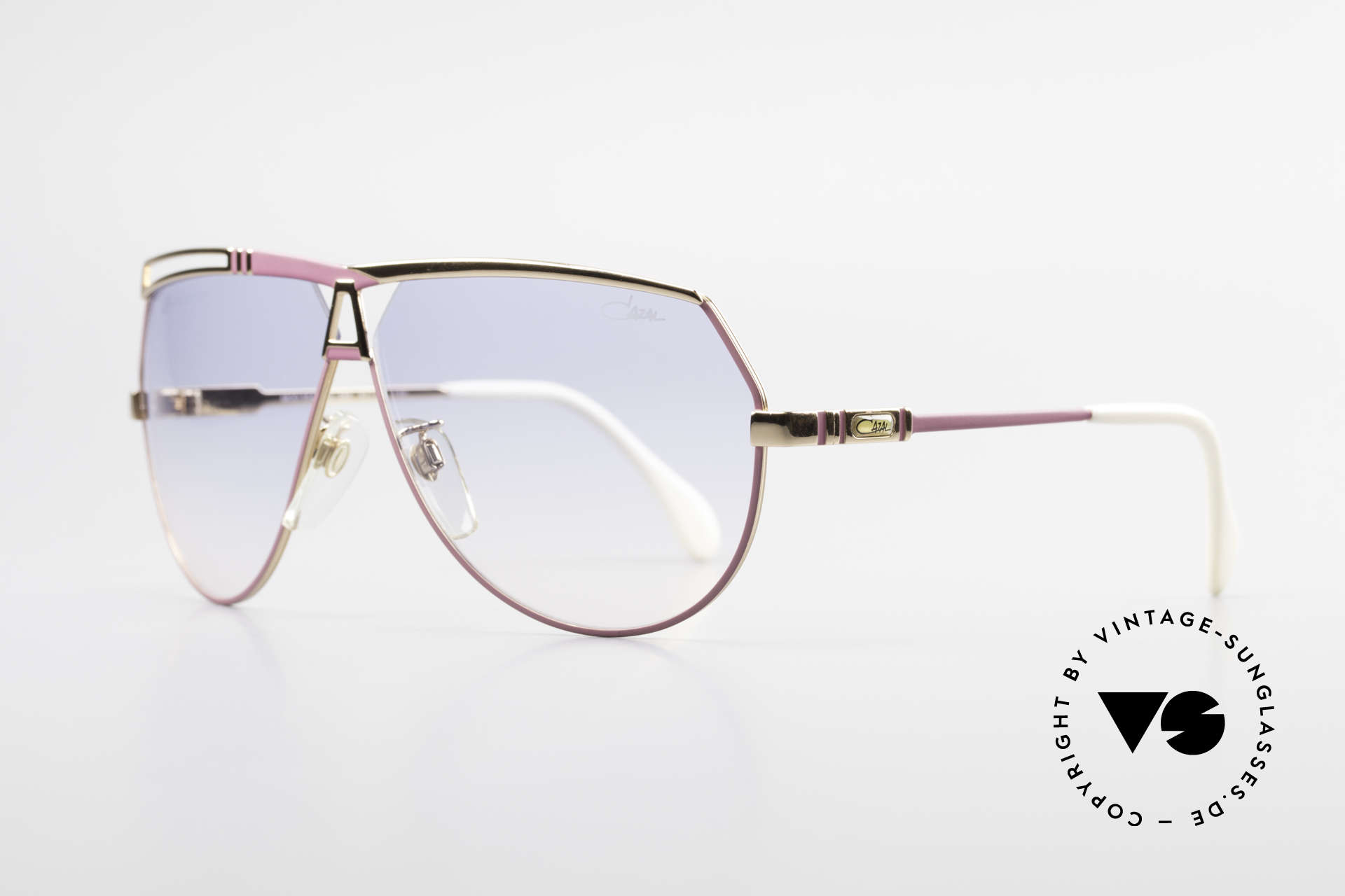 Cazal 954 Oversized 80's Sunglasses, aviator design with huge lenses & great coloring, Made for Women