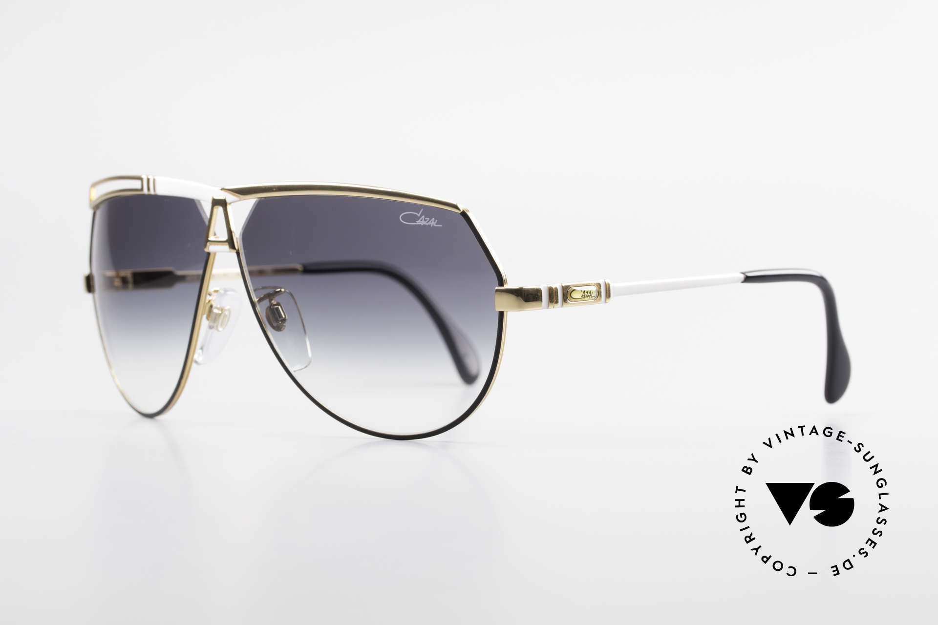 Cazal 954 Rare Vintage Designer Shades, aviator design with huge lenses & great coloring, Made for Men and Women