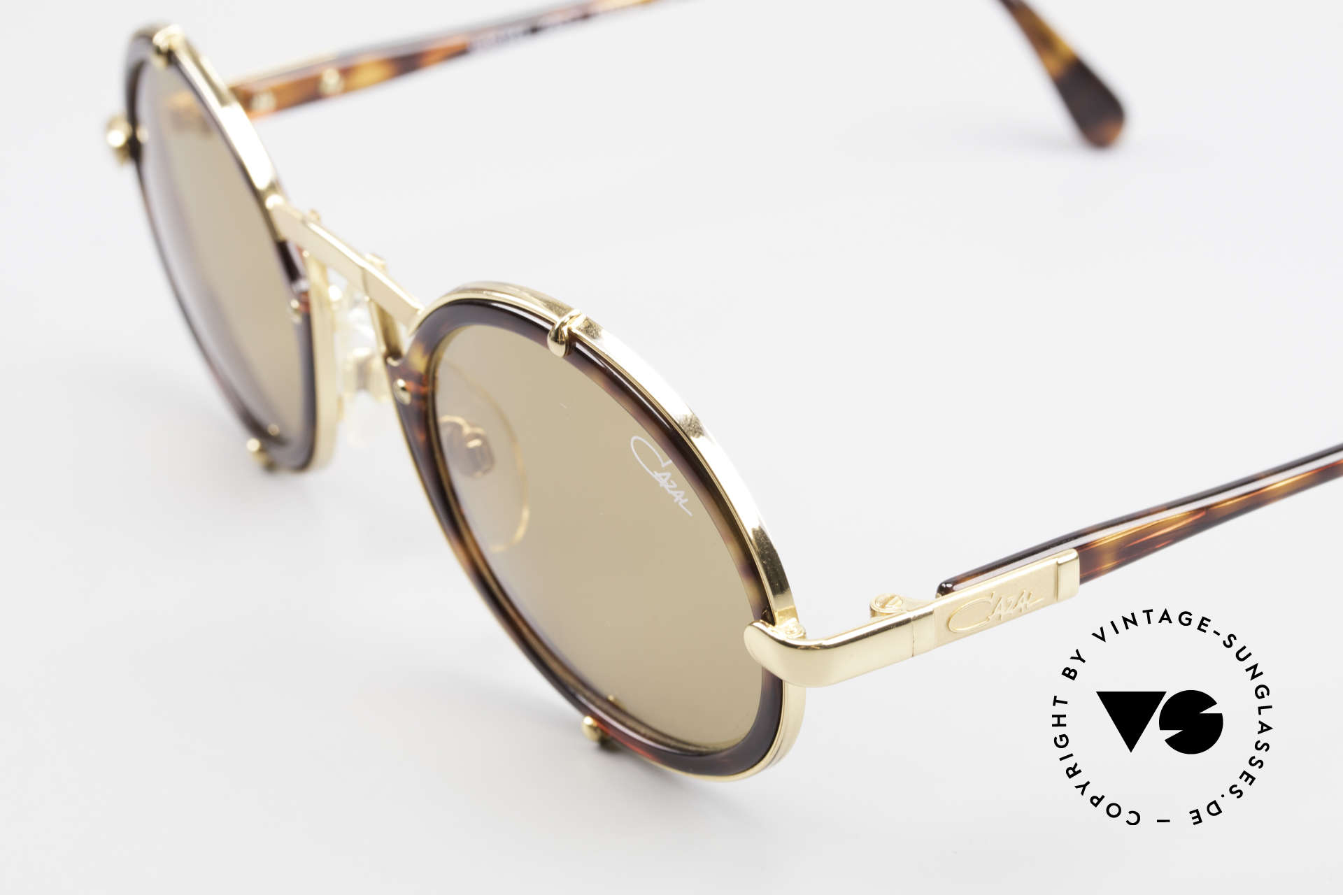 Cazal 644 Round Cazal 90's Sunglasses, unworn (like all our vintage eyewear by Cazal), Made for Men and Women
