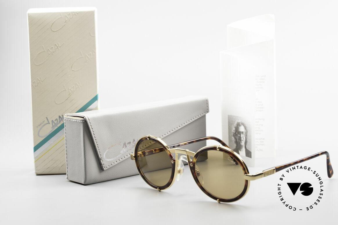 Cazal 644 Round Cazal 90's Sunglasses, Size: medium, Made for Men and Women