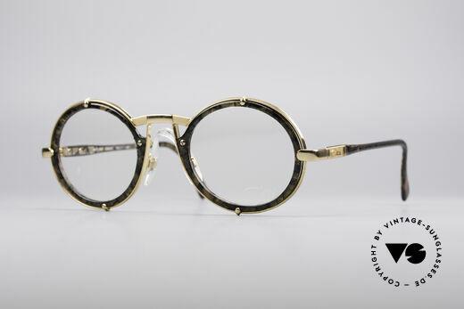 Cazal 644 Round 90's Eyeglasses Details