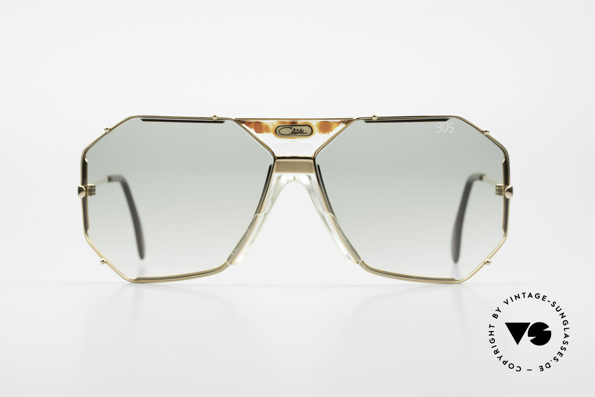 Cazal 905 Gwen Stefani Sunglasses 80's, elegant, angular design by Cari Zalloni (CAZAL), Made for Men