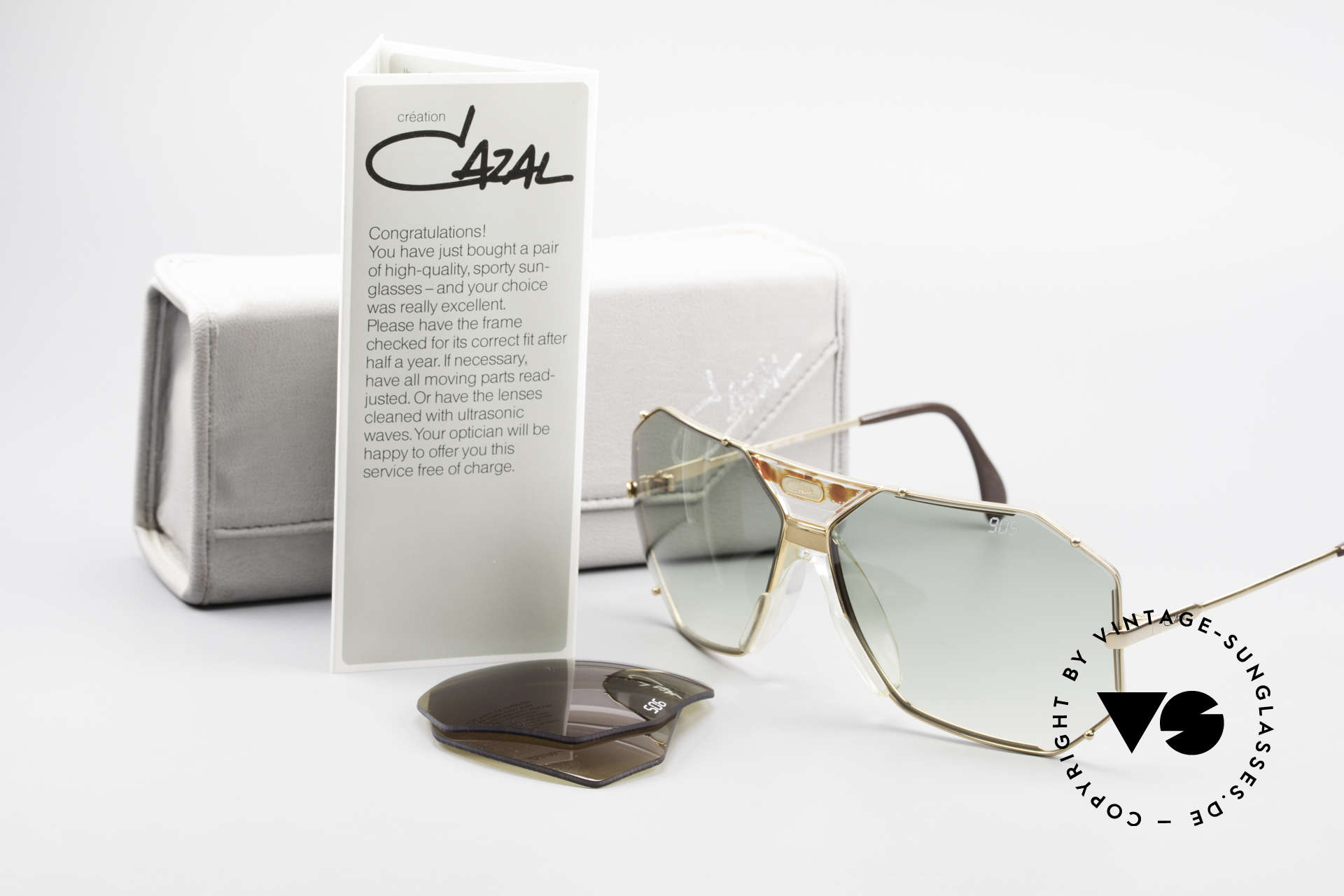 Cazal 905 Gwen Stefani Sunglasses 80's, the rare old W.GERMANY ORIGINAL (no re-issue!), Made for Men