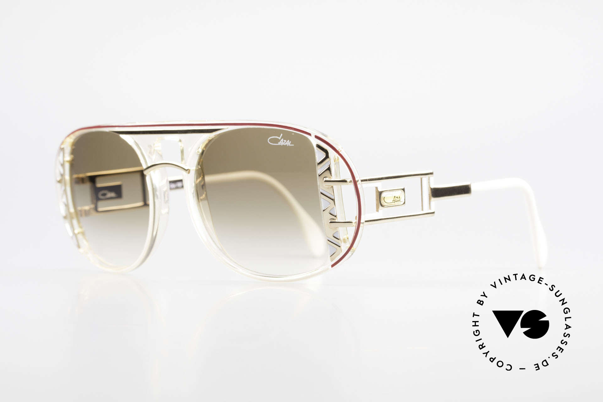 Cazal 875 Extraordinary 90's Sunglasses, unique quality & complex coloring - just vintage!, Made for Men and Women