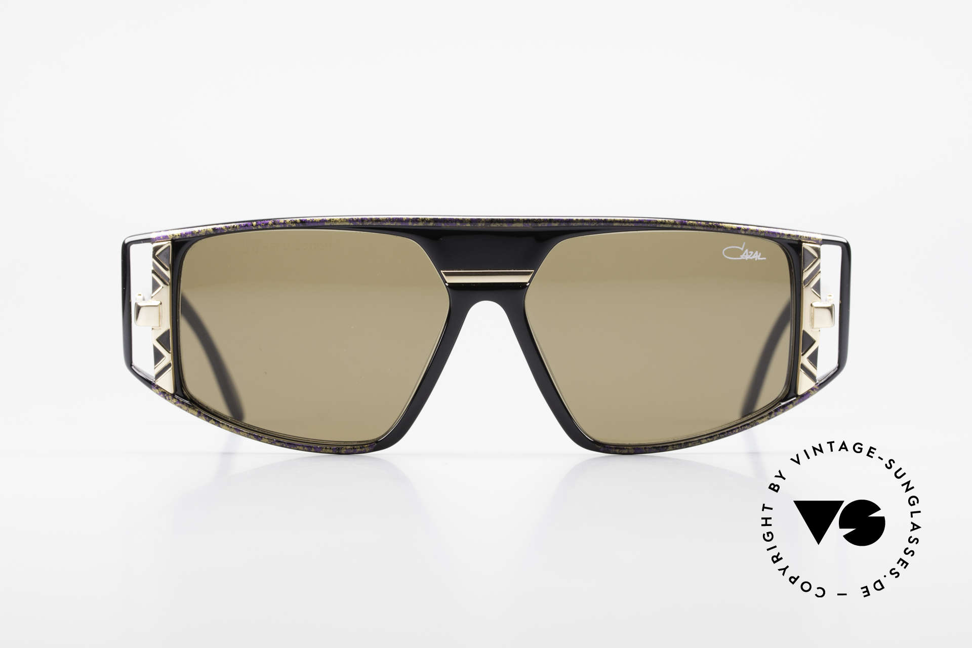 Cazal 874 Legendary 90's Sunglasses, flashy & complex composition of colors & materials, Made for Men and Women
