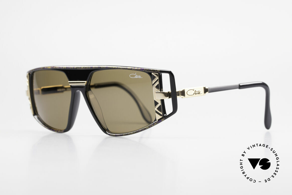 Cazal 874 Legendary 90's Sunglasses, with many fancy design details (distinctive CAZAL), Made for Men and Women