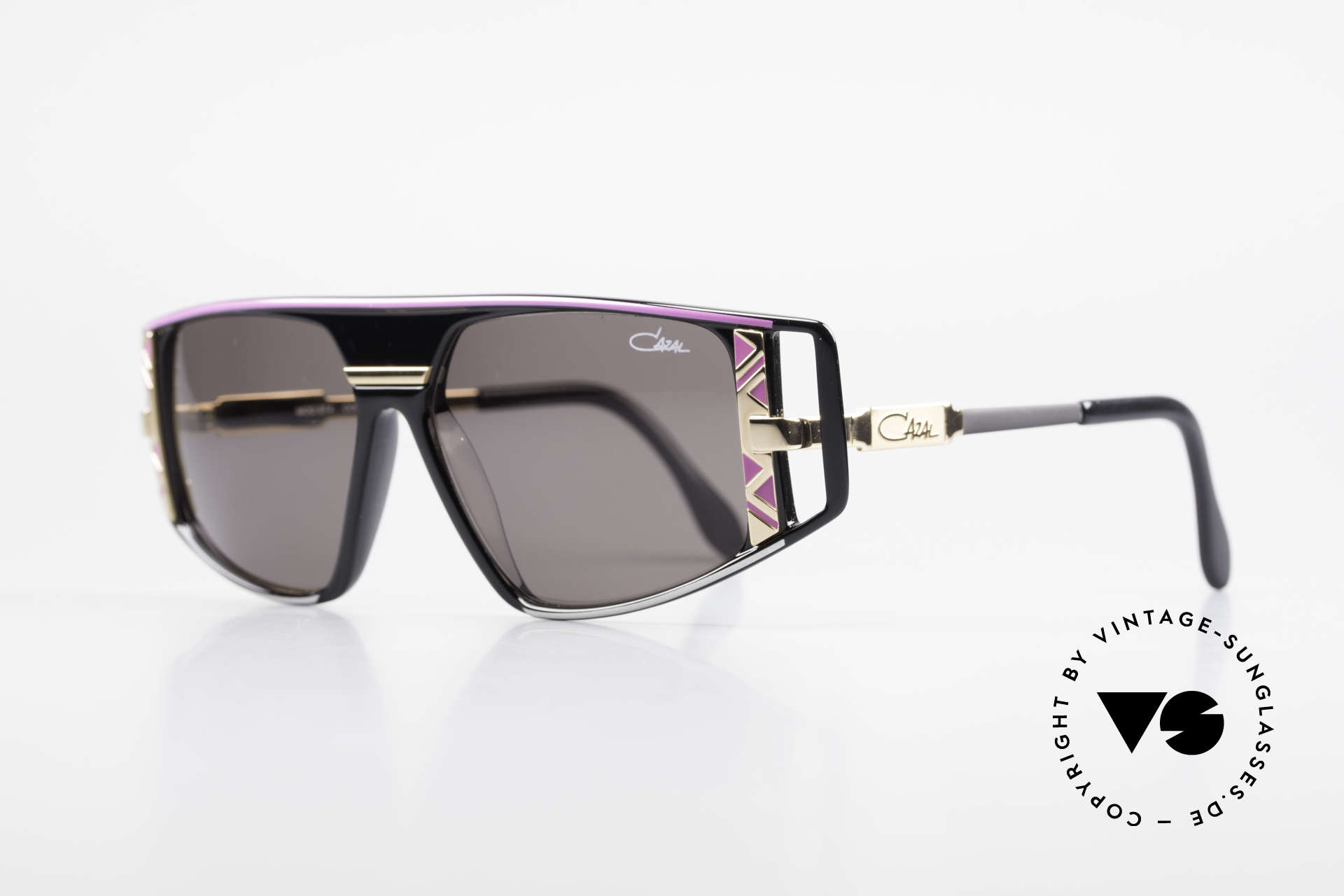 Cazal 874 90's Shades Lady Gaga Style, with many fancy design details (distinctive CAZAL), Made for Men and Women