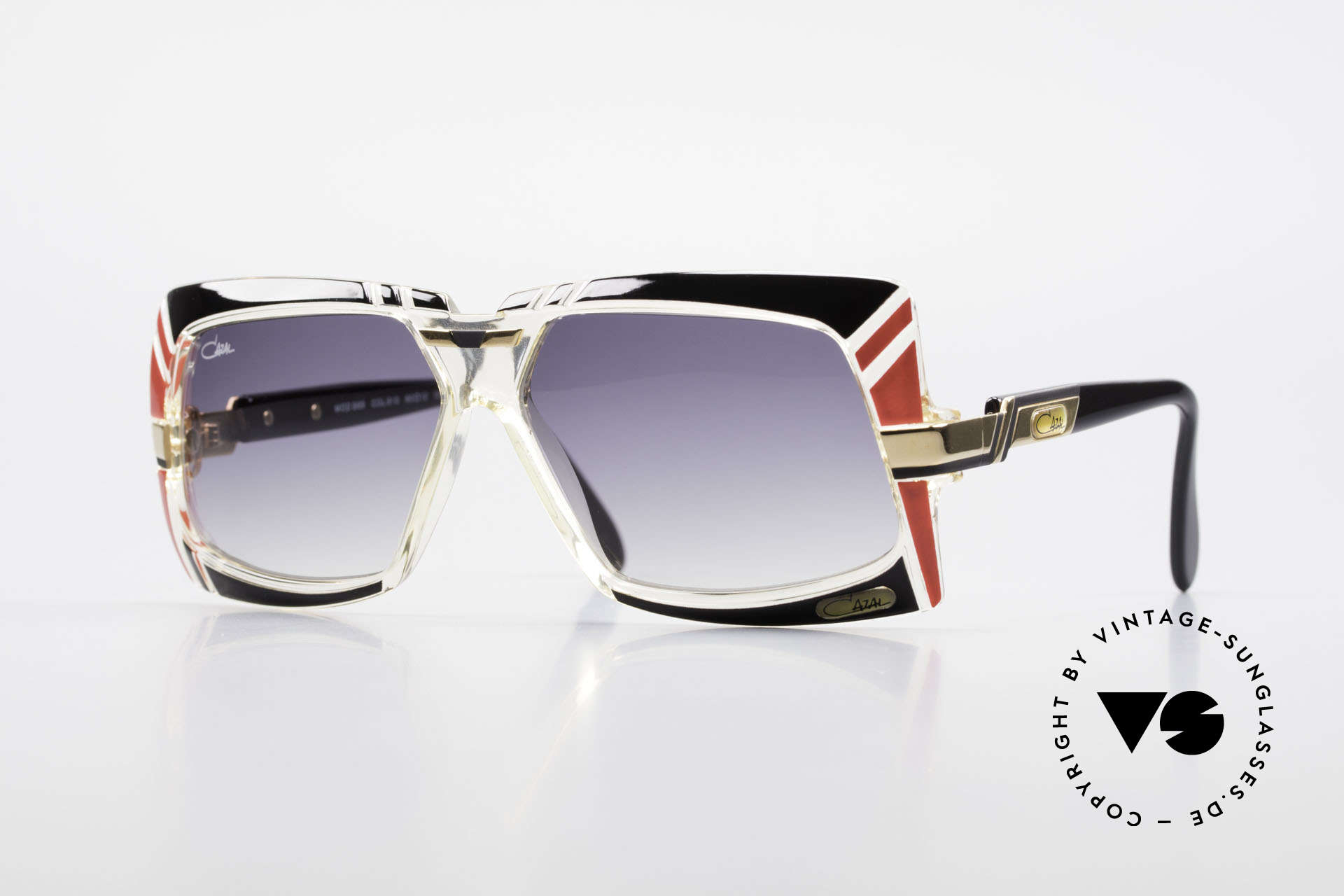 Cazal 869 Old 80's West Germany Shades, extraordinary designer sunglasses from 1989/90, Made for Men and Women