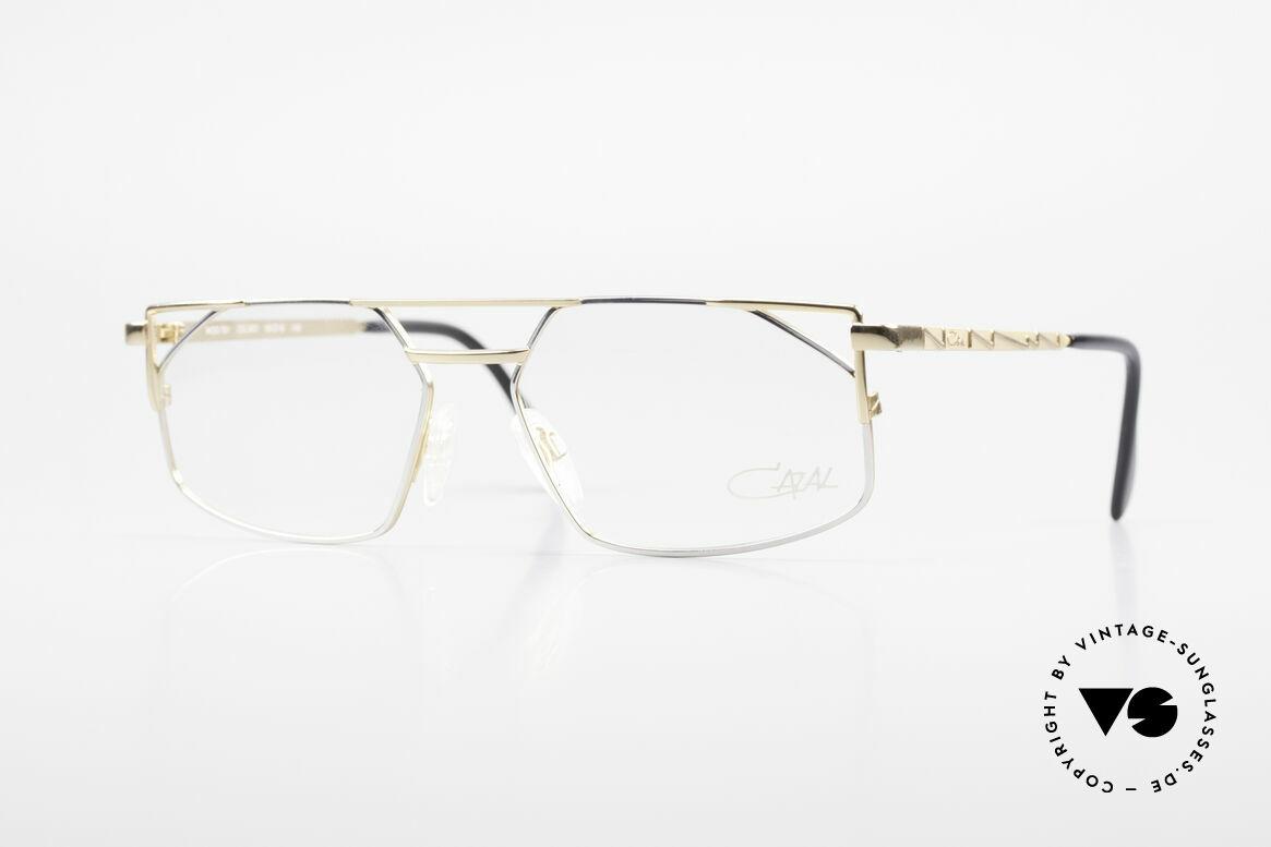 Cazal 751 Old 90's Designer Eyeglasses, angled metal designer frame with high-grade finish, Made for Men
