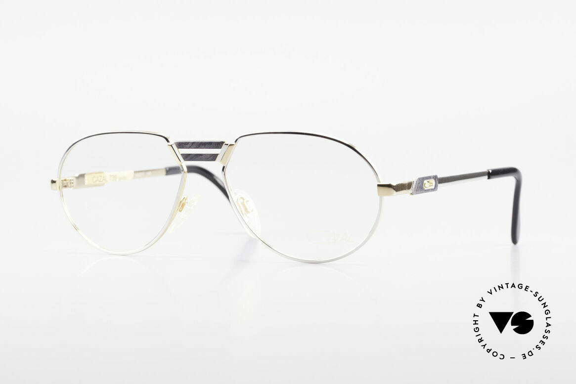 Cazal 739 Gold Plated Eyeglass-Frame, unique CAZAL eyeglasses for men from 1989/90, Made for Men