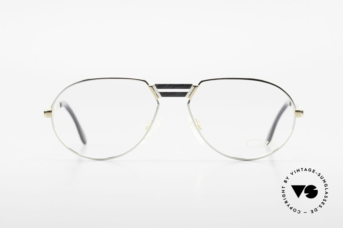 "Cazal 739 Gold Plated Eyeglass-Frame, slightly ""teardrop shaped"" frame by CAri ZALloni, Made for Men"