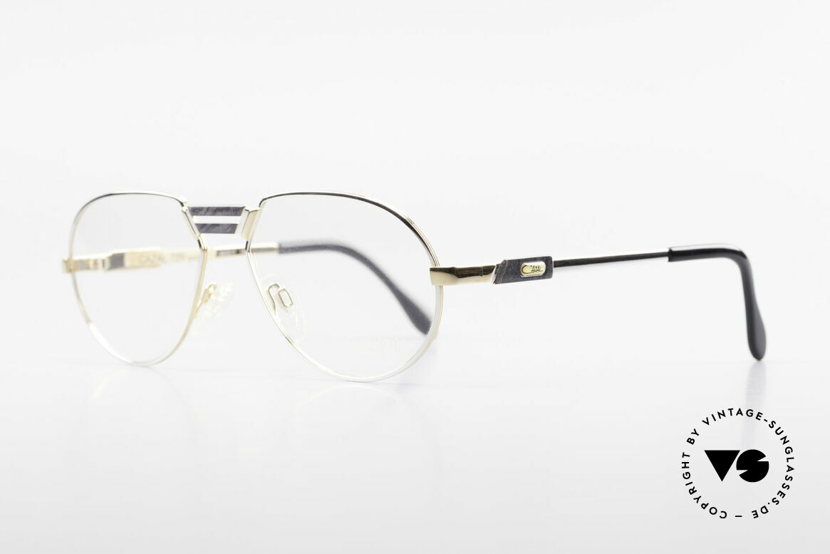 Cazal 739 Gold Plated Eyeglass-Frame, very elegant and TOP-quality; made in Germany, Made for Men