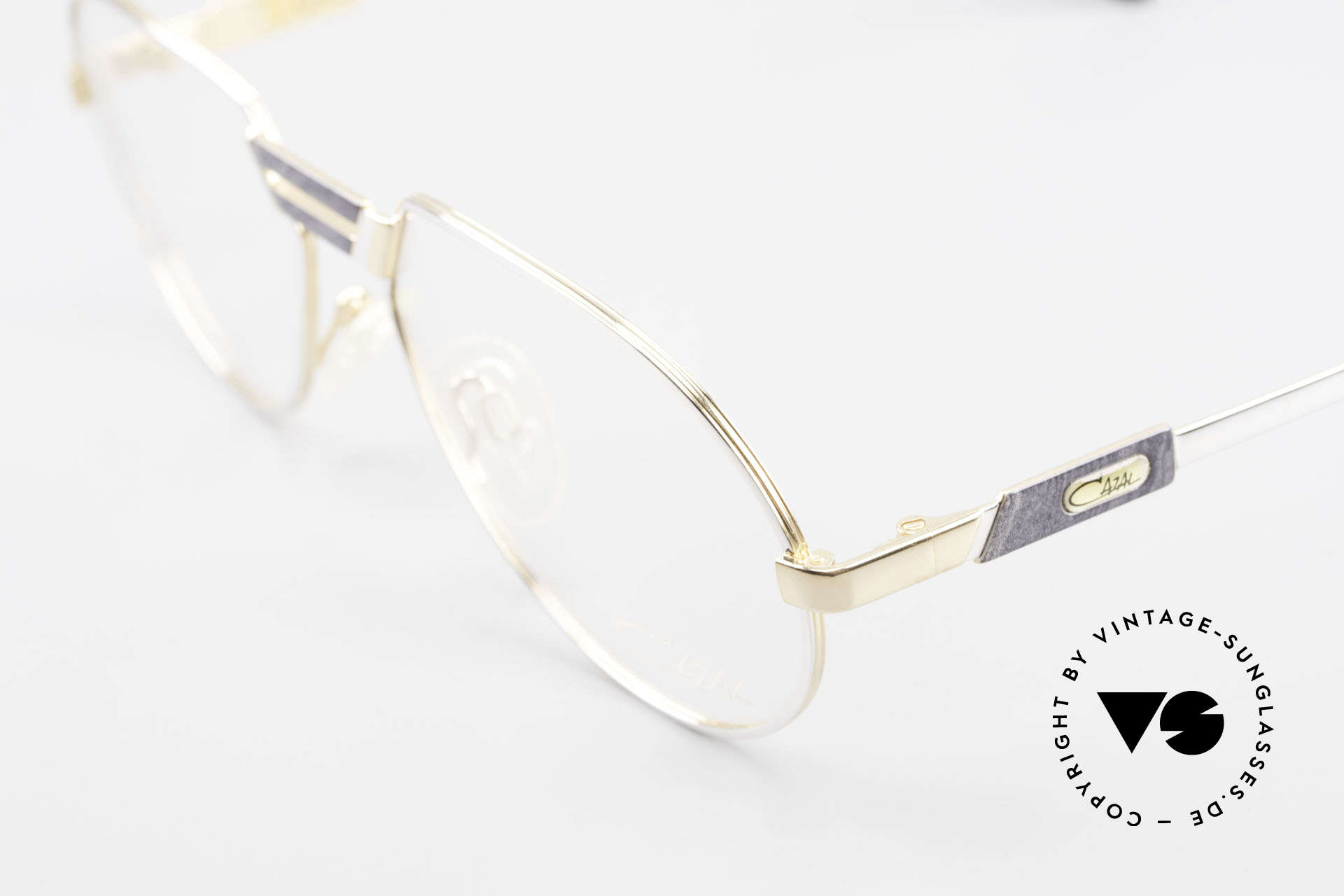 Cazal 739 Gold Plated Eyeglass-Frame, new old stock (like all our vintage Cazal eyewear), Made for Men