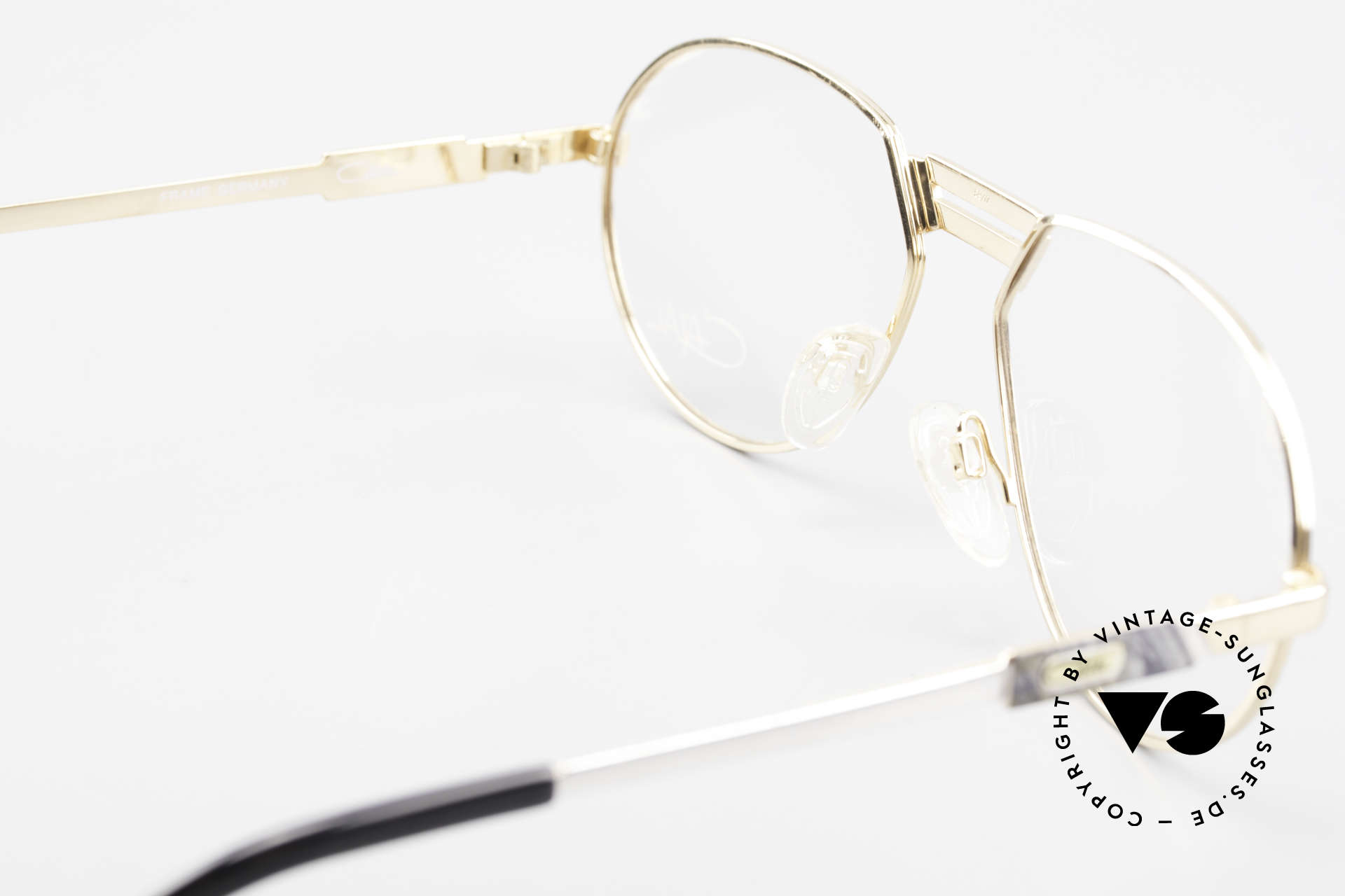 Cazal 739 Gold Plated Eyeglass-Frame, demo lenses can be replaced optionally, size 59/17, Made for Men