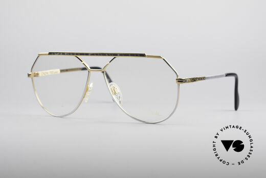 Cazal 733 Gold Plated 80's Eyeglasses Details