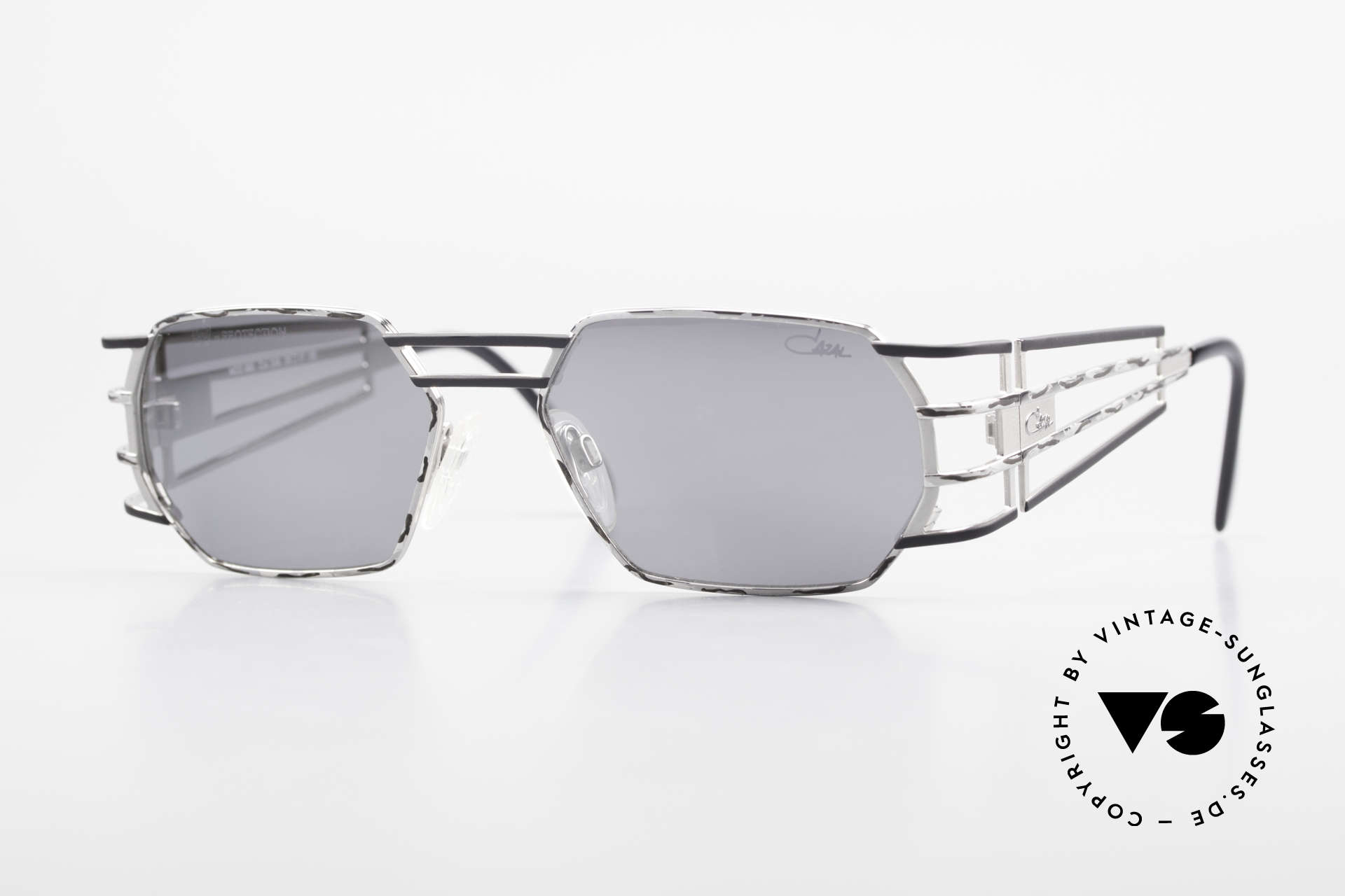 Cazal 980 Mirrored Designer Sunglasses, futuristic vintage CAZAL designer sunglasses from 1997, Made for Men and Women