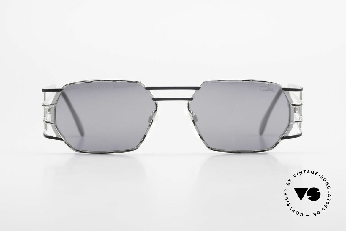 Cazal 980 Mirrored Designer Sunglasses, angular frame with striking and sophisticated temples, Made for Men and Women