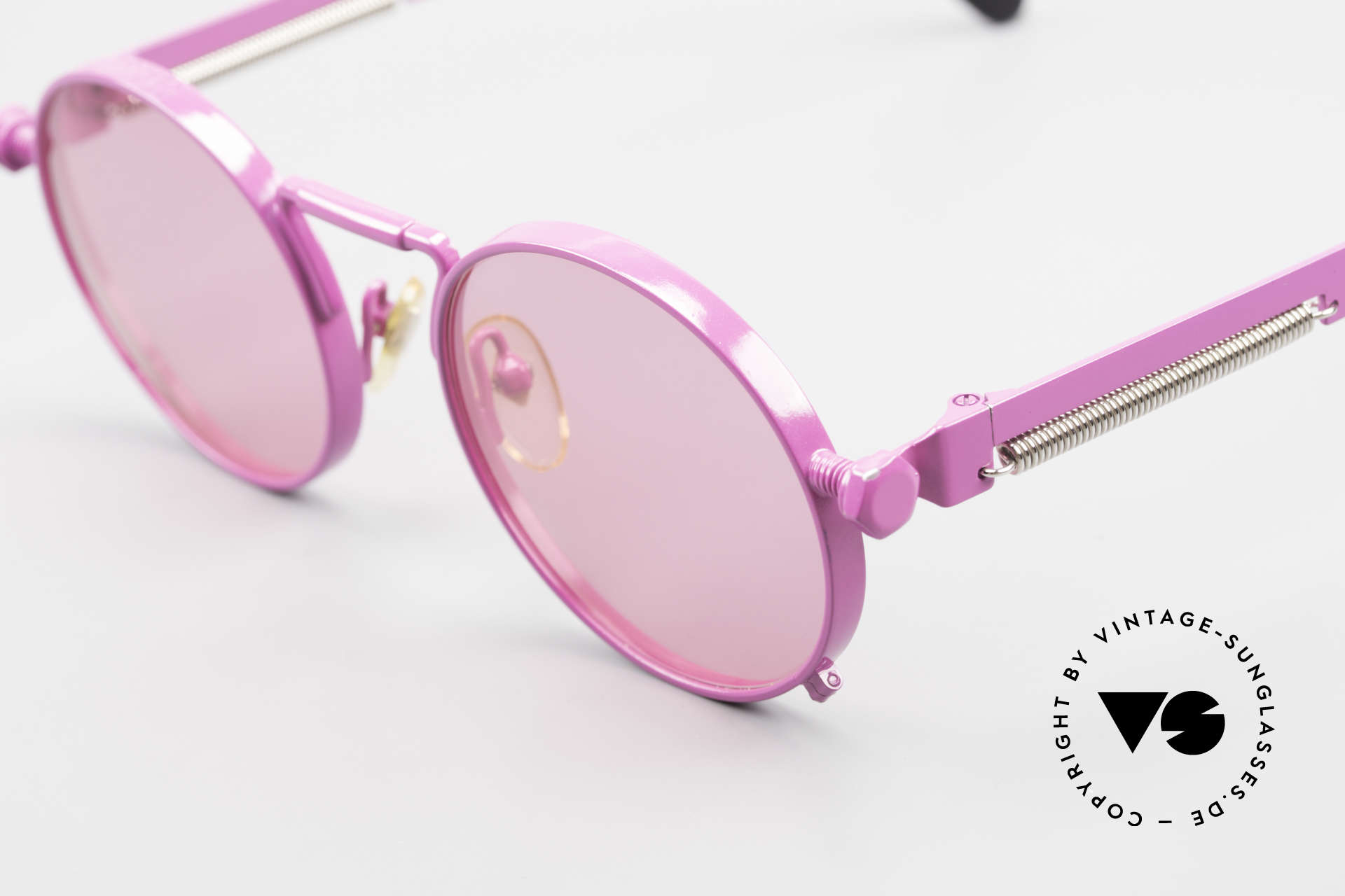 Jean Paul Gaultier 56-8171 Customized Pink Edition, the most wanted Gaultier vintage sunglasses, worldwide, Made for Men and Women