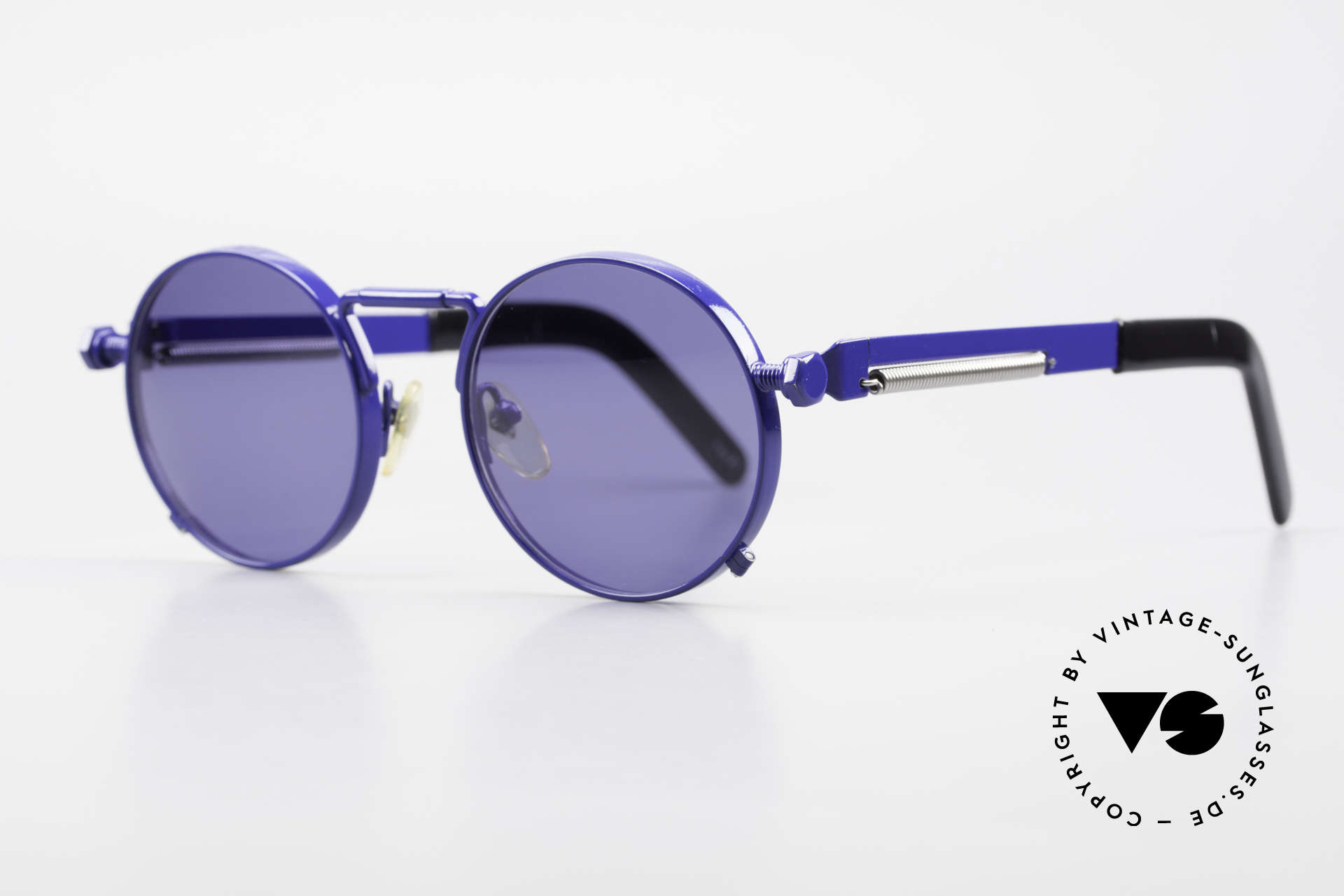 Jean Paul Gaultier 56-8171 Customized Blue Edition, incredible sturdy bridge and hinges (You must feel this!), Made for Men and Women