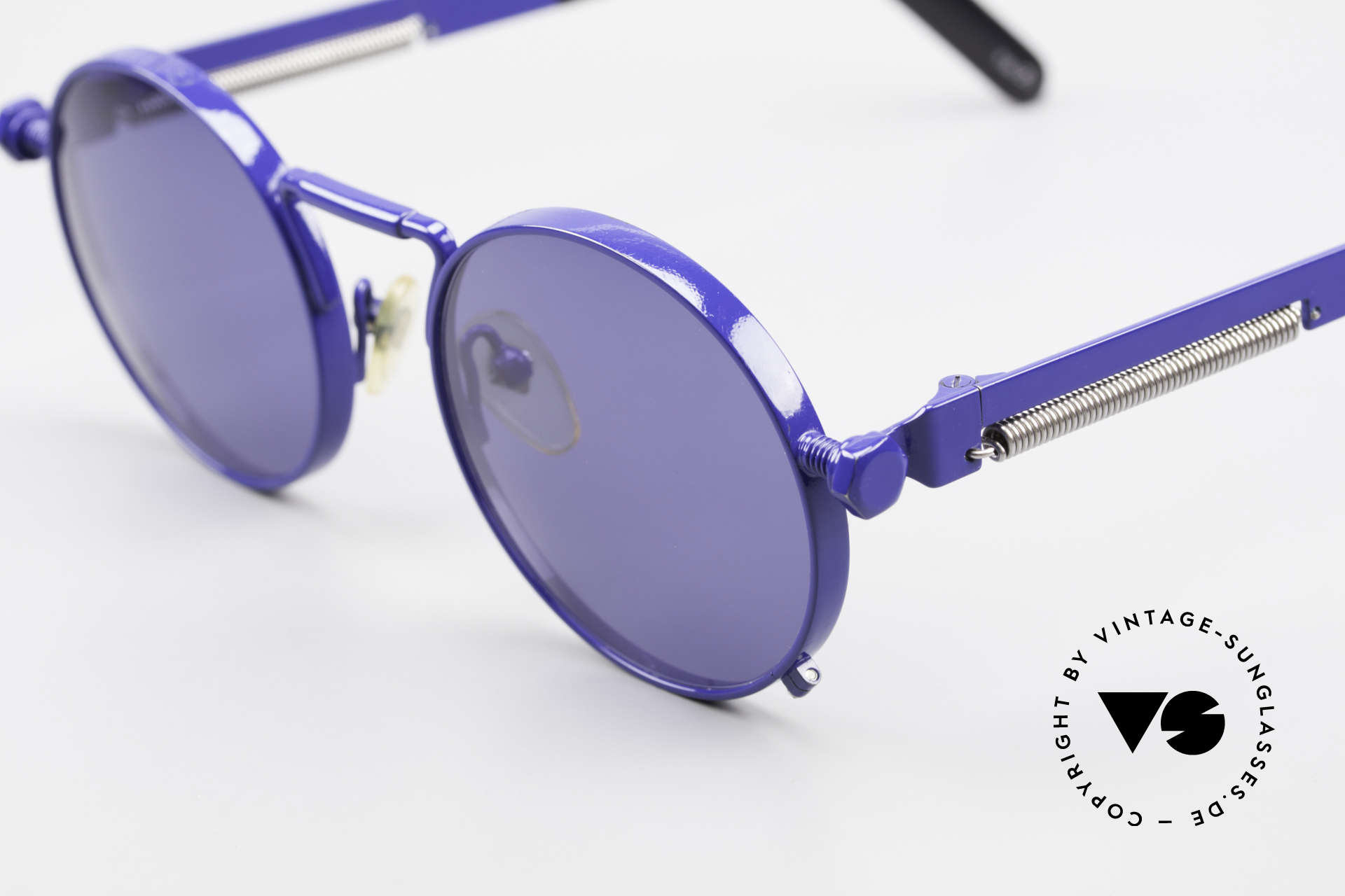Jean Paul Gaultier 56-8171 Customized Blue Edition, the most wanted Gaultier vintage sunglasses, worldwide, Made for Men and Women