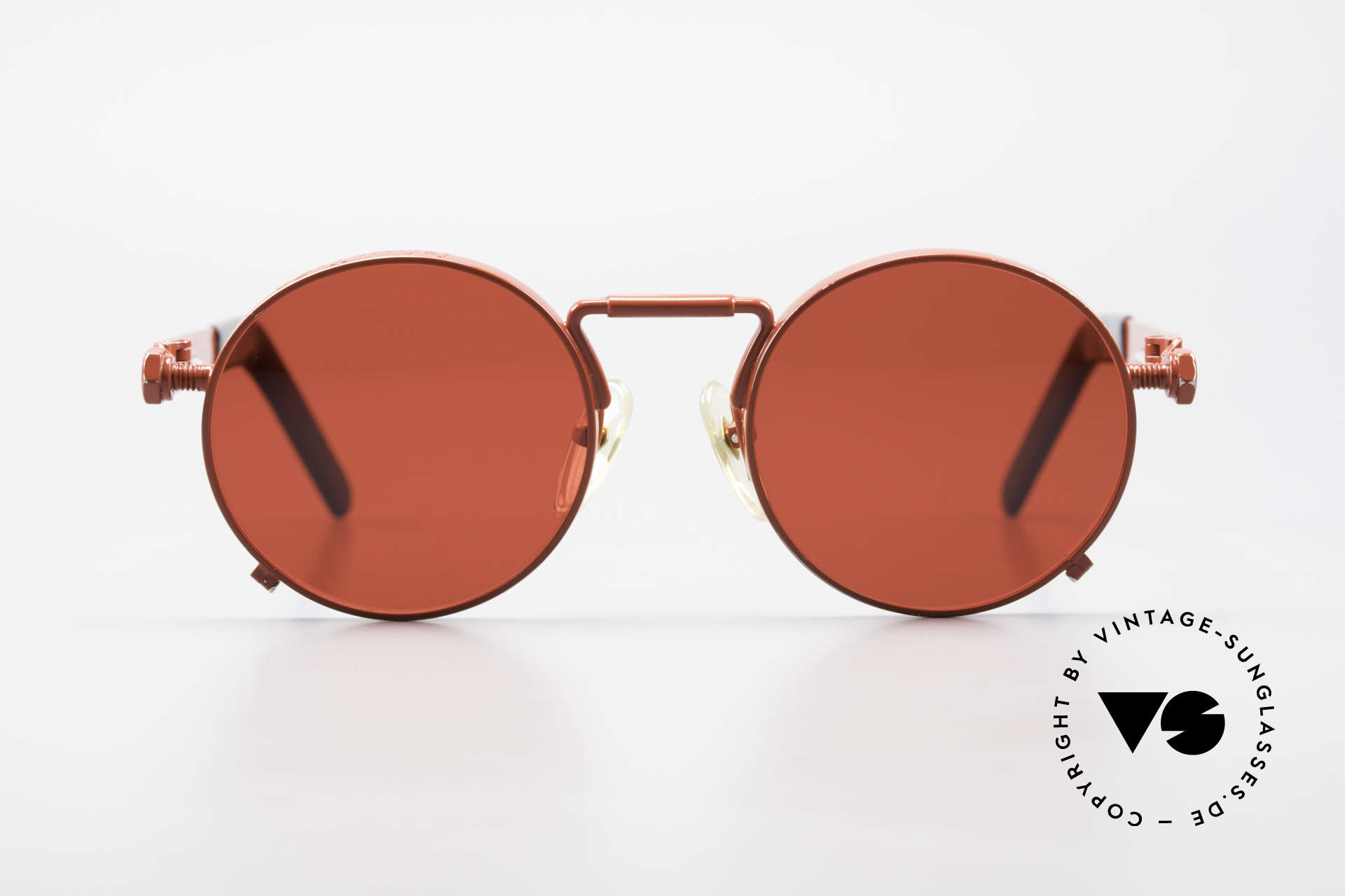 Jean Paul Gaultier 56-8171 Customized Red Edition, 1st model of the Gaultier eyewear collection from 1991, Made for Men and Women