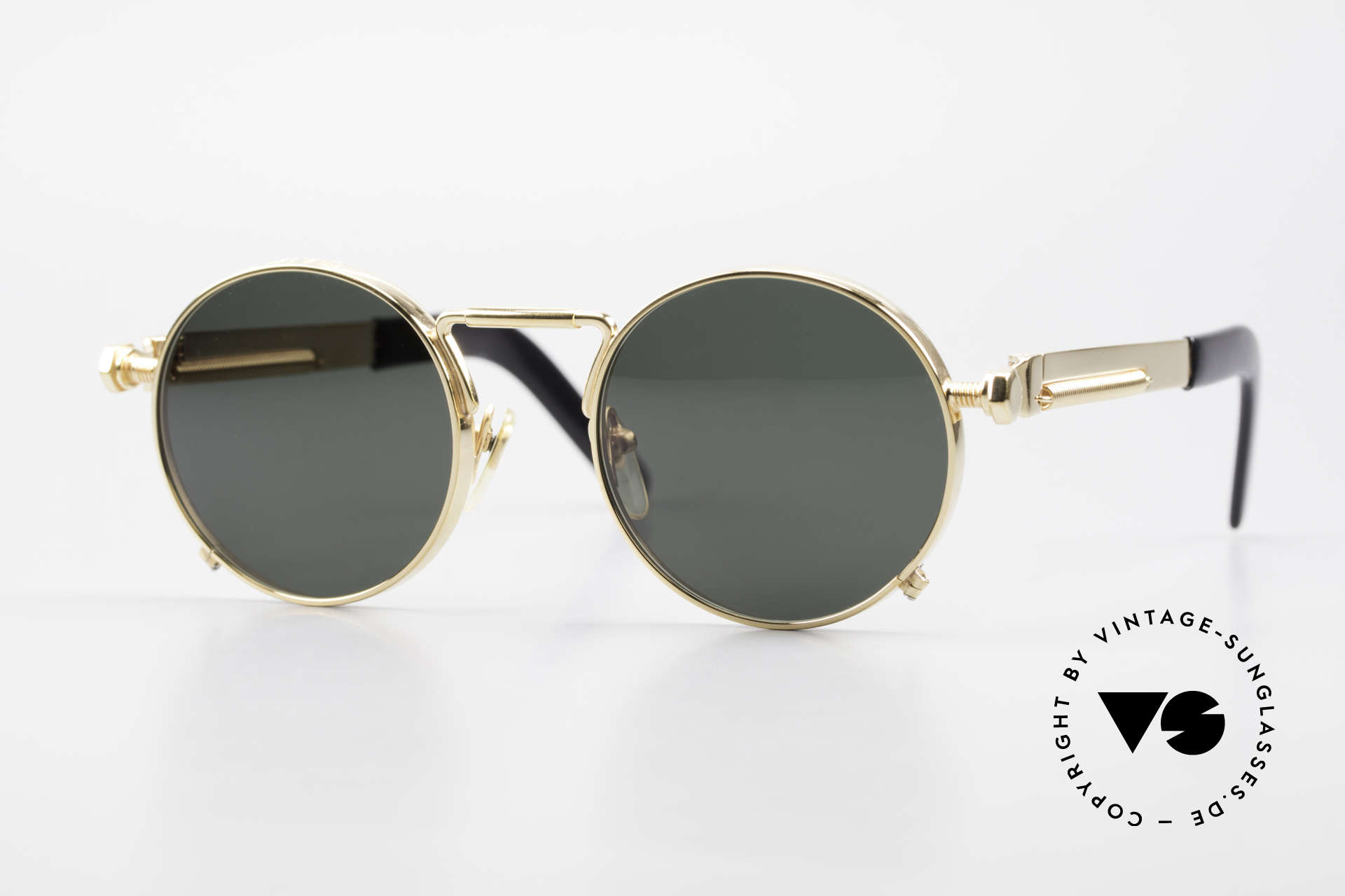 Jean Paul Gaultier 56-8171 Customized Chrome Gold, valuable and creative Jean Paul Gaultier designer shades, Made for Men and Women