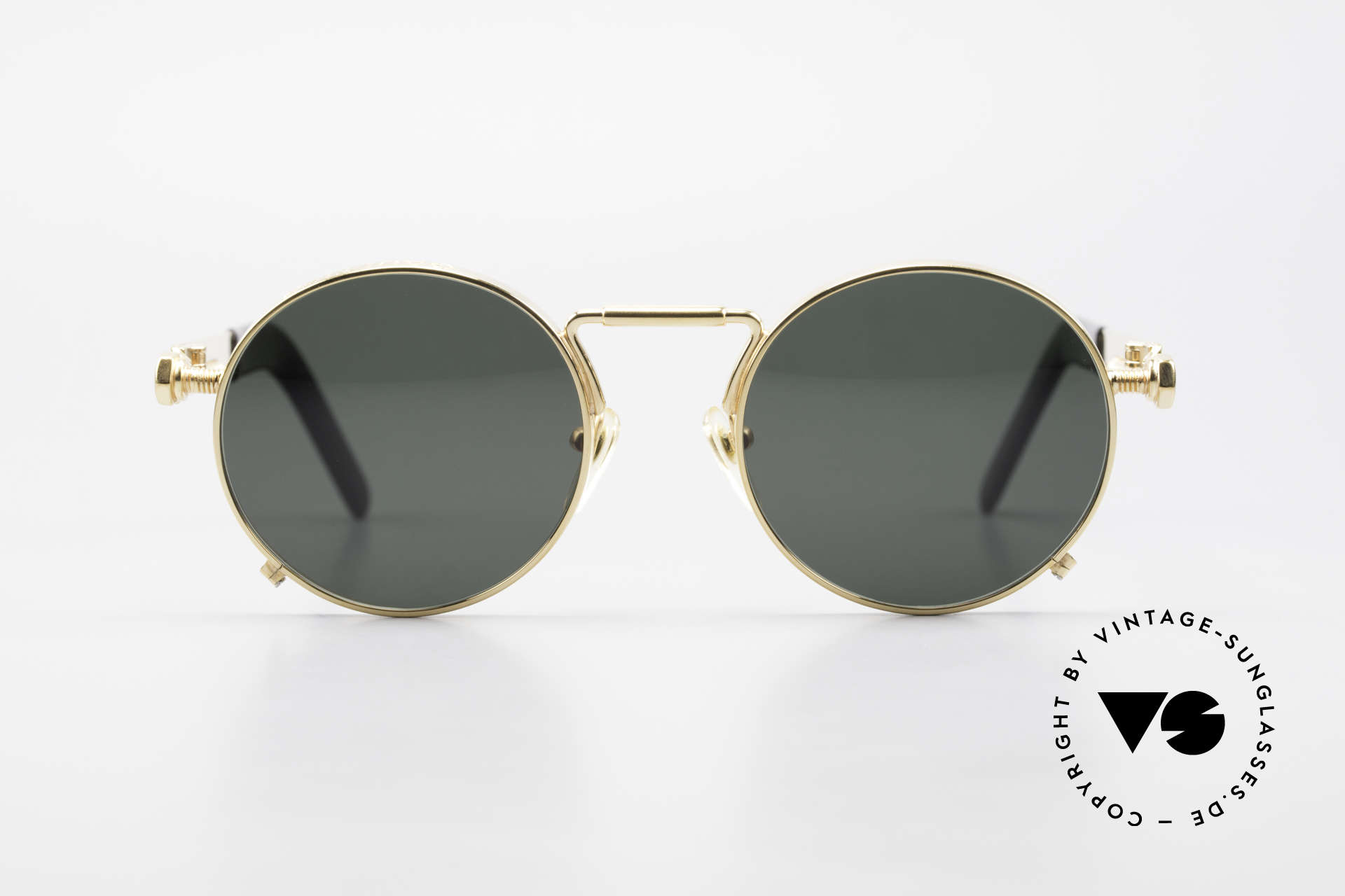 Jean Paul Gaultier 56-8171 Customized Chrome Gold, 1st model of the Gaultier eyewear collection from 1991, Made for Men and Women
