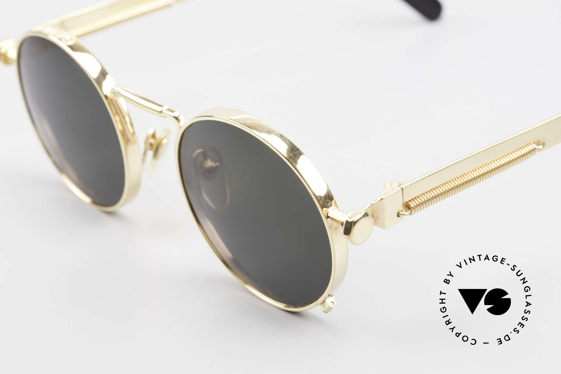 Jean Paul Gaultier 56-8171 Customized Chrome Gold, the most wanted Gaultier vintage sunglasses, worldwide, Made for Men and Women