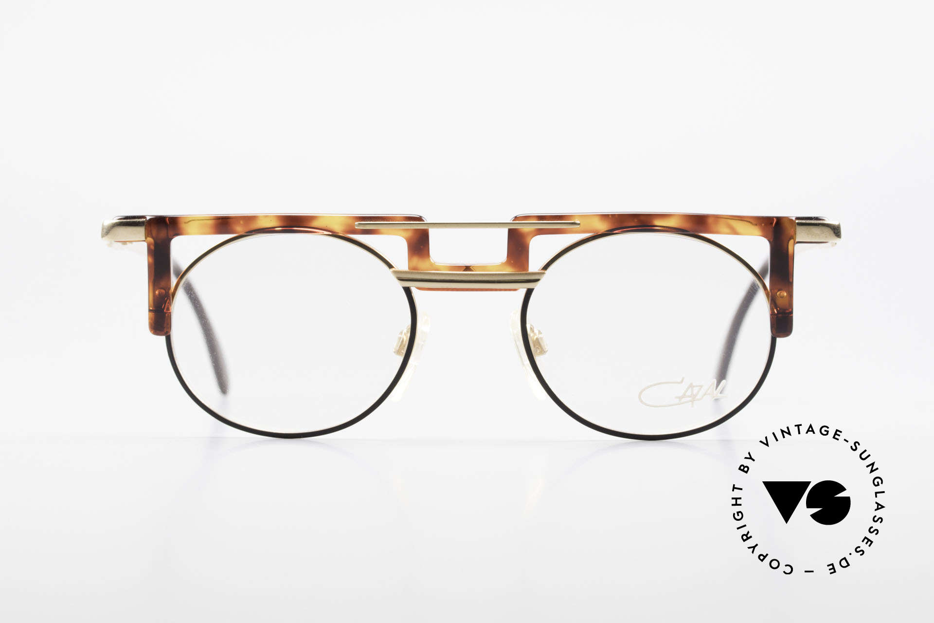 Cazal 745 Old Cazal 90's Eyeglass-Frame, great combination of shapes, colors & materials, Made for Men and Women