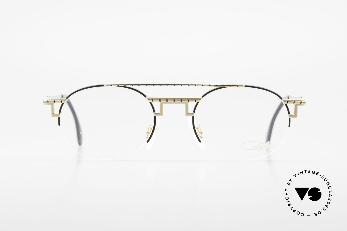 Cazal 764 True Vintage Cazal 90s Frame, supremely elegant frame finish in black-gold, Made for Men