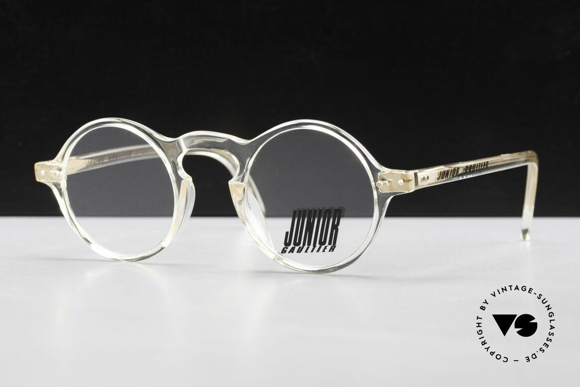 Jean Paul Gaultier 57-0072 90's Vintage Designer Frame, timeless round designer glasses by J. P. Gaultier, Made for Men and Women