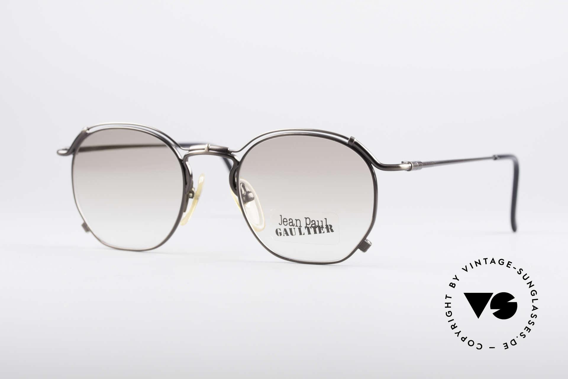 Jean Paul Gaultier 55-2171 90's Vintage JPG Frame, noble Jean Paul Gaultier 90's designer sunglasses, Made for Men and Women