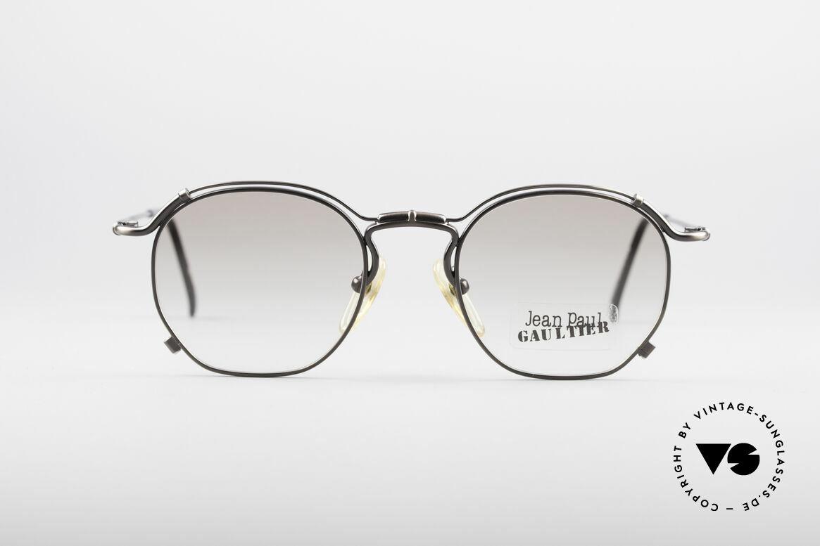 Jean Paul Gaultier 55-2171 90's Vintage JPG Frame, lightweight frame with many fancy design details, Made for Men and Women