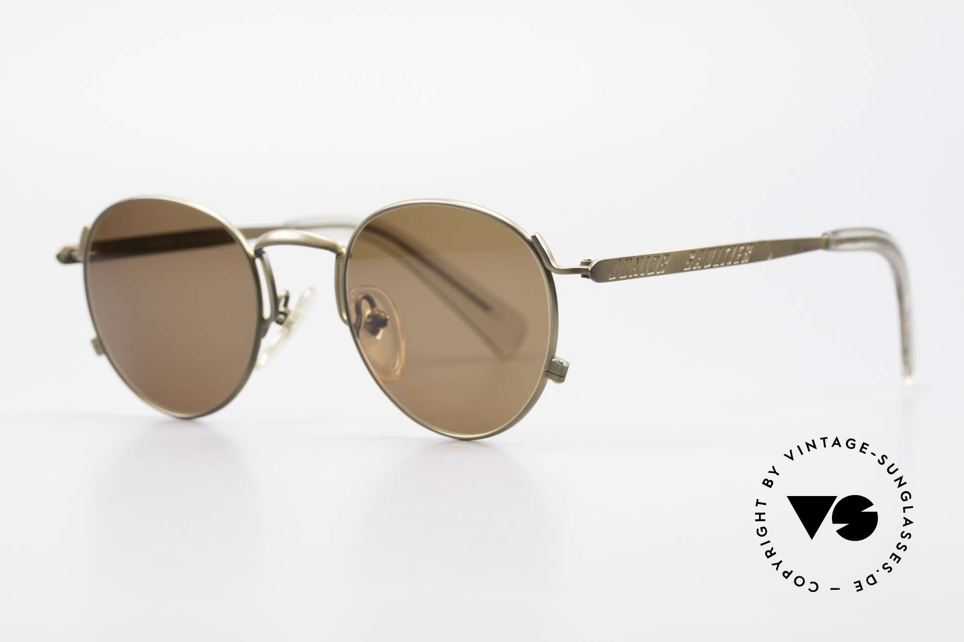 Jean Paul Gaultier 57-1171 90's JPG Designer Sunglasses, tangible top-quality and brown lenses (100% UV), Made for Men and Women
