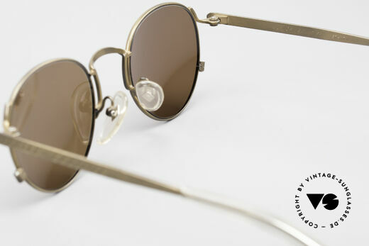 Jean Paul Gaultier 57-1171 90's JPG Designer Sunglasses, the sun lenses can be replaced with optical lenses, Made for Men and Women